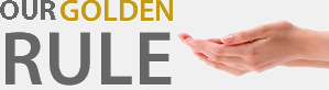 "Slogan, ""Golden Rule"" with hands"