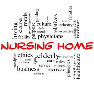 Nursing Home related words graphic