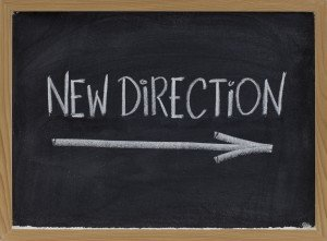 "Chalkboard ""New Direction"""