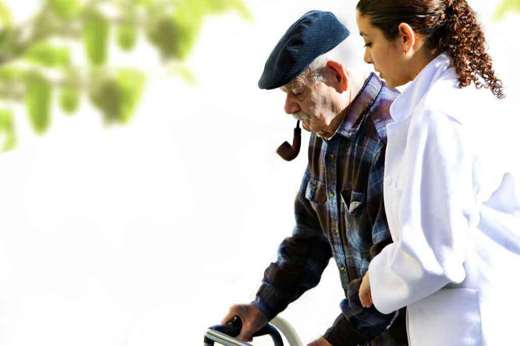 Alzheimers Dementia nurse with patient
