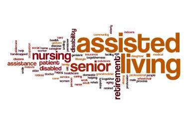 Assisted Living words graphic