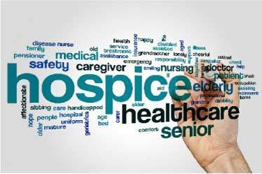 Hospice Care word graphic